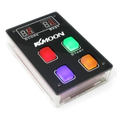 KKmoon DIY Game Console Kit with Acrylic Case LED Light Game Player Childhood Games Machine Toy for Sequence Learning Memory Exercise