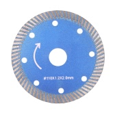 110*1.2*20mm Diamond Cutting Disc Saw Blade Continuous Turbo Diamond Blade with 8 Cooling Holes 20mm Inner Diameter Microlite Incising For Angle Grinder Architectural Engineering Architect