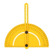 Plastic Protractor Angle Finder Measure Ruler Goniometer Articulating Arms Template Tool for Handymen Builders Craftsmen 180 Degree 25cm Rule Gauge Inch Metric