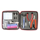 Electronic Cigarette Coil Jig Kits DIY Hand Tool Kit with Plastic Toolbox Wire Cutter Needle-nose Pliers Ceramic/Elbow Tweezer Scissors Screwdriver Ohm Meter Tool Sets Coil Tools