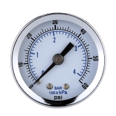 "1/8"" NPT Air Compressor Hydraulic Pressure Gauge 0-60 PSI Back Mount 1.5"" Dial Plate"