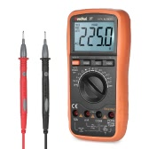 RuoShui 3999 Counts Auto Range True RMS Multi-functional Digital Multimeter DMM with DC AC Voltage Current Meter Resistance Diode   Capacitance Frequency Tester Temperature hFE Measurement Continuity Test HZ Backlight LCD Display