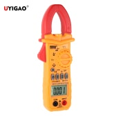 UYIGAO Brand New AC/DC Portable Handheld LCD Diaplay Digital Clamp Meter with Test Lead Electronic Multimeter Voltage Current Resistance Temperature Frequency Surge Current Tester