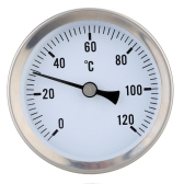 "63mm 1/8""BSPT Bi-metal Thermometer Clip-on Temperature Gauge Dial with Spring 0-120°C"