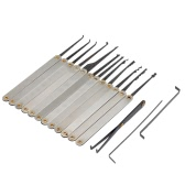 15Pcs Stainless Steel Lock Pick Opener Set Locksmith Tools with Wrench Broken Key Extractor