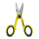 "TNI-U TU-527 5.7"" Multipurpose Steel Electrician Scissors Shears Cut/Strip Electrical Wire with Wire Cutting Notch"