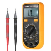 RuoShui Pocket 1999 Counts Auto Range True RMS Multi-functional Digital Multimeter DMM with DC AC Voltage Current Meter Resistance Diode Capacitance Frequency Tester Continuity Test HZ Backlight LCD Display