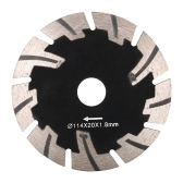 114*1.8*20mm 5A Dry Cutting Segmented Diamond Saw Blade with 8 Cooling Holes 20mm Inner Diameter Wall Cutting For Angle Grinder Wall Chaser Architectural Engineering   Architect