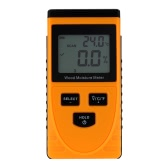 Professional Digital Wood Moisture Meter Temperature Humidity Tester LCD Display Hygrometer