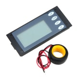 AC 100A LCD Backlight Digital Power Meter Voltage KWh Time Watt Voltmeter Ammeter with CT