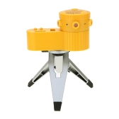 Multifunction Laser Level Leveler Rotate Tripod Vertical Horizontal Line Tool with 2 Water Level LED