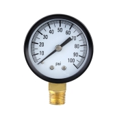 0-100psi Mini Dial Air Pressure Gauge Meter Piezometer Single Scale