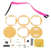 SCM Awesome Transparent LED Watch DIY LED Digital Tube Wristwatch Electronic Watch DIY Kit