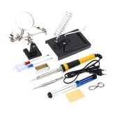 FZ603 220V-240V 30W Household Soldering Iron 10pcs Tools Soldering Iron with Magnifier Tin Wire Solder Sucker Rosin