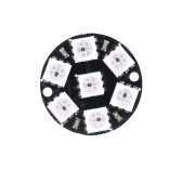 7 Bit WS2812 5050 RGB LED Built-in Full-color Driver Lights Round Development Board Module