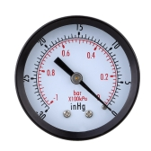 0~-30inHg 0~-1bar Mini Dial Air Vacuum Pressure Gauge Meter Pressure Gage Vacuum Manometer Double Scale