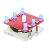 DIY Swing Shaking LED Dice Kit Module with Small Vibration Motor