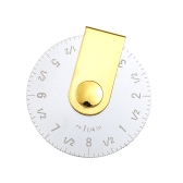 """Portable 20/10cm Quilting Patchwork Rolling Ruler Accurate 8""""/4"""" Circle Measuring Tool Curve Drawing Template Tailor Sewing Accessories Tools"""
