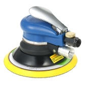 "Multifunction 6"" 10000RPM Pneumatic Palm Random Orbital Sander Polisher Air Powered Orbit Polisher Dual Action Polishing Grinding Sanding Waxing Tools with Vacuuming Bag"