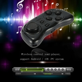 Portable Wireless Bluetooth Joystick Multifunctional Bluetooth Controller Support Hundreds of Games Music Control  Wireless Mouse  E-book Page   for Mobile Phone  Tablet  PC  TV-box  for Android or IOS