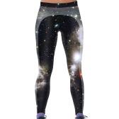 Fashion Women Digital Galaxy Print Elastic Waist Stretchy Tight Skinny Leggings