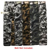 New Men Cargo Trousers Camouflage Multi-Pockets Camping Work Military Style Outdoor Casual Pants