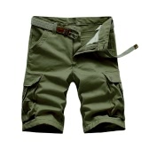 New Fashion Men Cargo Shorts Multi Pockets Solid Summer Cool Outdoor Short Pants Trousers Khaki/Black/Army Green