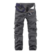 New Fashion Men Trousers Solid Color Multi-Pockets Camping Work Cool Outdoor Casual Pants