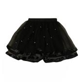 Cute Tiered Mesh PearlsTutu Yarn Princess Tulle Skirt for Girl