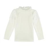 Fashion Girl Splice Pearl Button Long Sleeve Warm Pullover Sweatshirt