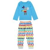 Cute Baby Donkey Splice Long Sleeve T-Shirt Geometry Elastic Waist Trousers Girls