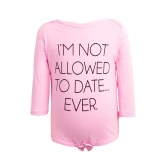 Infant Baby Boy Girl Bodysuit Letter Print Rompers Jumpsuit Toddler Long Sleeve Overalls Outfit One Piece Pink