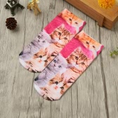 New Fashion Women Socks Cute Cartoon Print Low Cut Ankle Breathable Stretchy Casual Socks