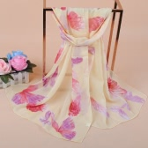 New Fashion Women Bohemian Chiffon Scarf Print Long Shawl Beach Pashmina Elegant Thin Scarf