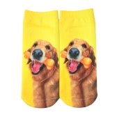 New Fashion Women Socks Cute Dog Print Low Cut Breathable Stretchy Casual Ankle Socks