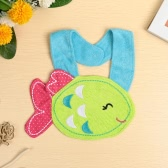 Baby Kids Cartoon Lunch Bib Cute Animal Embroidery Cotton Waterproof Boys Girls Slaliva Towel Bib Burp Cloths