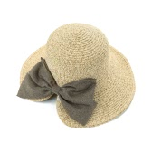 New Fashion Women Straw Hat Bowknot Large Rolled Brim Foldable Sweet Vintage Sun Summer Beach Cap