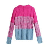 Hot Women Knitted Sweater Candy Color O-Neck Long Sleeve Casual Pullover Tops Knitwear