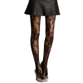 Sexy Women Seamless Floral Fishnet High Waist Pantyhose Tights Stockings