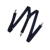Fashion Clip on Suspenders Elastic Y-Shape Back Formal Unisex Adjustable Braces