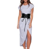 New Fashion Women Vintage Waist Belt Self-tie Hook Waistband Waist Strap White/Black
