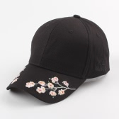 Floral Embroidery Snapback Hat Letter Sports Hip Hop Women Men Baseball Cap Pink/White/Black