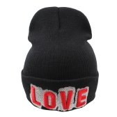 Men Women Winter Hat Beanie Knit Cap Letter Embroidery Hip-Hop Causal Unisex Solid Skullies Headwear
