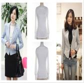 Women Autumn T-shirt Lace Turtleneck Long Sleeve Slim Fit Under Top T Shirt White