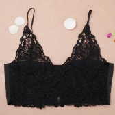 Sexy Lace Crochet Deep V Neck Spaghetti Strap Zipper Women