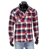 Mens Check Dress Shirt Plaid