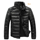 Mens Winter Coats Warm Parkas Stand-up Collar Jackets