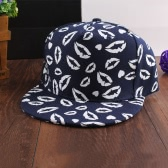 Korean Fashion Women Men Cap Mouth Print Luminous Baseball Hat Hip Pop Hat Unisex Black/Dark Blue