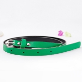 Fashion Women Lady Waist Belt PU Faux Leather Candy Color Skinny belt