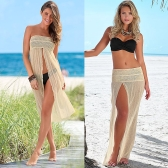 Sexy Crochet Hollow out Meshy Boho Bikini Dress Skirt